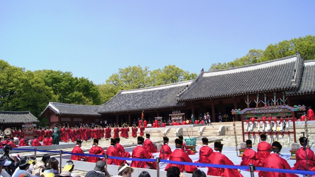During the jongmyo Jaerye Festival