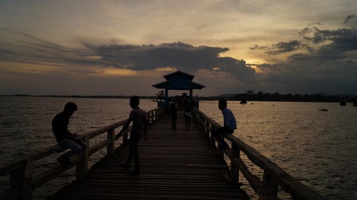 Ubein Bridge Sunset