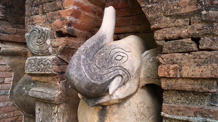 Elephant sculptures Bagan