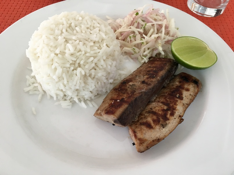 There is like 1-2 restaurants per local island, but the food is fantastic.